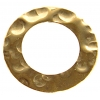 Gold Filled 14kt Connector Circle Flat Hammered 9mm